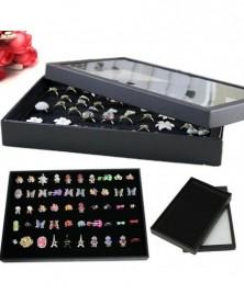 100 gyűrű fekete ékszer...